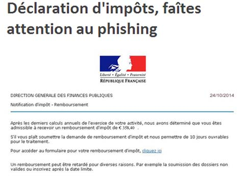 comment declarer phishing